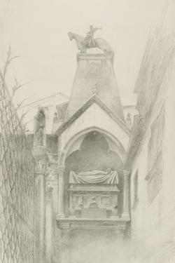 Study of the Tomb of Can Grande Della Scala at Verona, May - August 1869 by John Ruskin