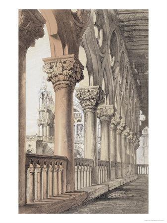 The Ducal Palace, Renaissance Capitals of the Loggia, 1851