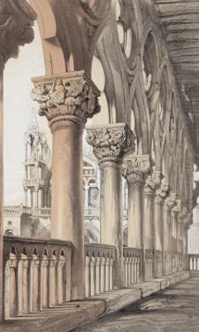 The Ducal Palace, Renaissance Capitals of the Loggia, 1851 by John Ruskin