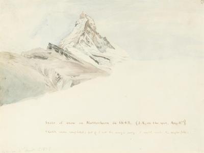 The Matterhorn, Switzerland, from the Northeast, 1849