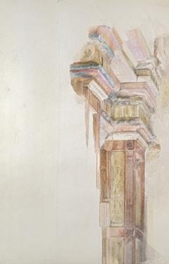 The Palazzo Gambacorti, Pisa, 27 - 30 April 1872 (Watercolour over Graphite on Wove Paper) by John Ruskin