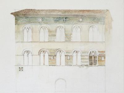 The Palazzo Gambacorti, Pisa, 27 - 30 April 1872 (Watercolour over Graphite on Wove Paper)