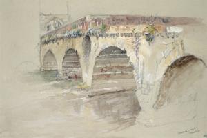 The Ponte Della Pietra by John Ruskin