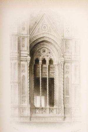 Tracery from the Campanile of Giotto, Florence, from 'The Seven Lamps of Architecture' by John…