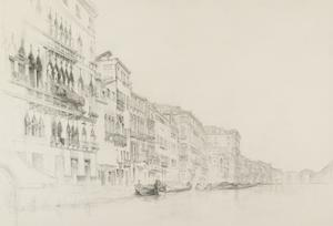 View from the Palazzo Bembo to the Palazzo Grimani by John Ruskin