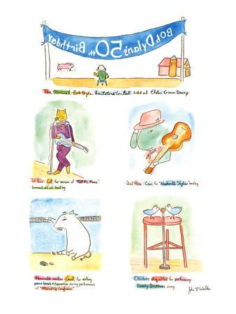 Bob Dylan's 50th Birthday - New Yorker Cartoon