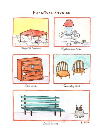 Furniture Reunion - New Yorker Cartoon