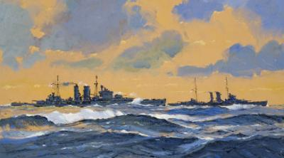 The British Cruisers Hms Exeter and Hms York