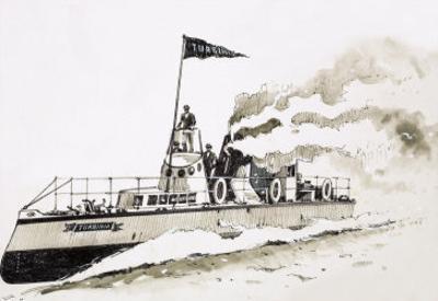 Turbinia, Steam-Powered Ship by John S. Smith