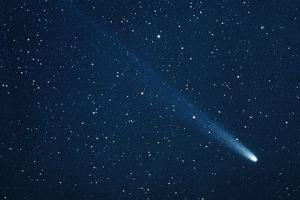 Comet Hyakutake on 13.3.96 by John Sanford