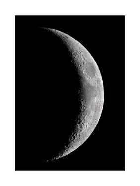 Waxing Crescent Moon by John Sanford