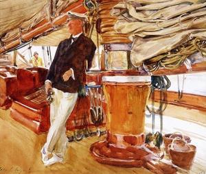 On the Deck of the Yacht Constellation, 1924 by John Sargent