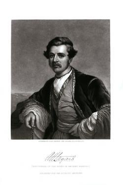 Engraving Print of Sir Austen Henry Layard by John Sartain