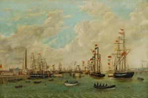 Opening of Tyne Dock, 3rd March 1859 by John Scott