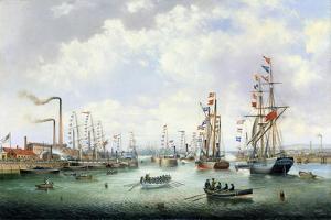 The Opening of Tyne Dock, 1859 by John Scott