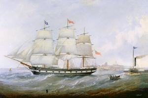 The Ship 'salacia' at the Mouth of the Tyne by John Scott