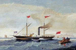The Steam Tug 'Alfred' Off Tynemouth, C.1856 by John Scott