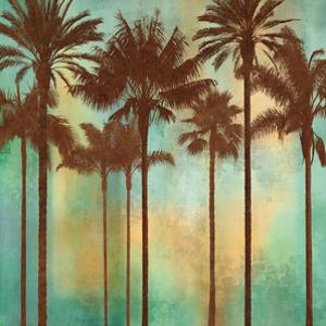 Aqua Palms II by John Seba