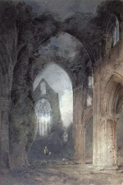 Tintern Abbey by Moonlight by John Sell Cotman