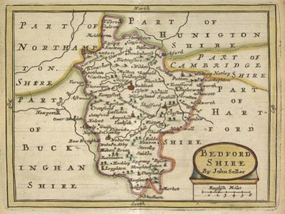 Bedford Shire, from Anglia Contracta or Description of Kingdom of England and Principality of Wales