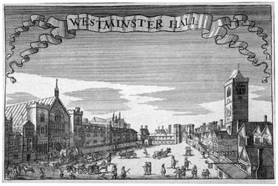 View of Westminster Hall and New Palace Yard, London, C1648