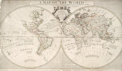 A Map of World, Corrected from the Observations to the Royal Societies of London and Paris