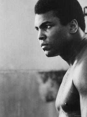 Boxer Muhammad Ali Training for a Fight Against Joe Frazier by John Shearer