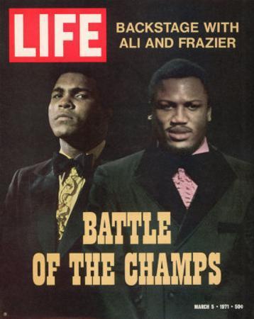 Boxers Muhammad Ali and Joe Frazier, March 5, 1971 by John Shearer