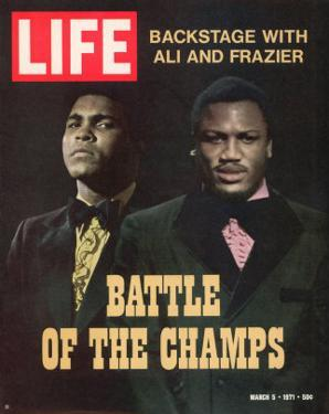 Boxers Muhammad Ali and Joe Frazier, March 5, 1971 by John Shearer