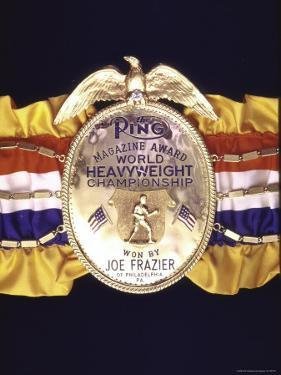 "Boxing Champ Joe Frazier's ""The Ping Magazine Award World Heavyweight Championship"" Medal by John Shearer"