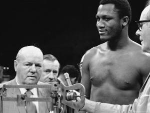 Joe Frazier at the Weigh in for His Fight Against Muhammad Ali by John Shearer