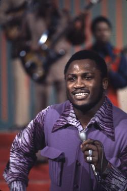 Joe Frazier Singing with His Band Joe Frazier and the Knockouts on Don Rickles Show, 1971 by John Shearer