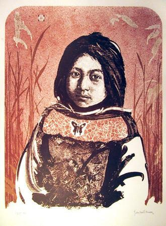 Portrait of an American Indian Girl by John Shemitt Houser