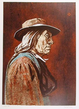 Portrait of an American Indian Man by John Shemitt Houser