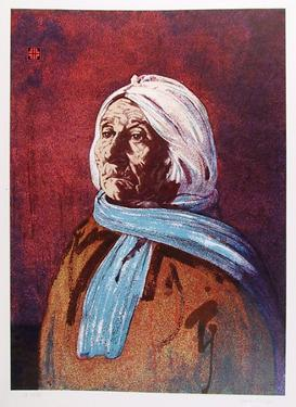 Portrait of an American Indian Woman by John Shemitt Houser