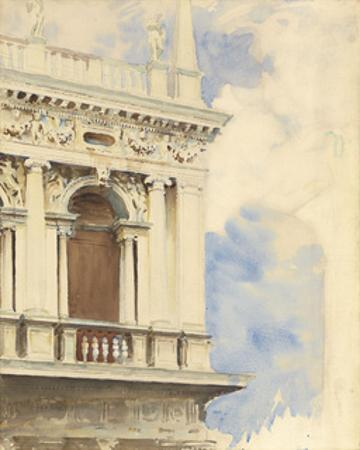 A Corner of the Library in Venice, 1904/07 by John Singer Sargent