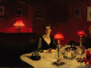 A Dinner Table at Night, 1884 by John Singer Sargent