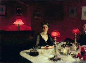 A Dinner Table at Night by John Singer Sargent