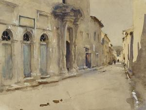 A Street in Spain (Watercolour over Graphite with Touches of Bodycolour) by John Singer Sargent