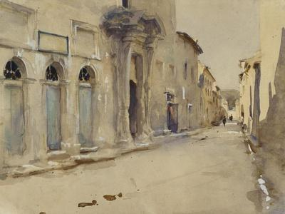 A Street in Spain (Watercolour over Graphite with Touches of Bodycolour)