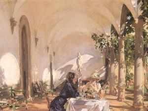 Breakfast in the Loggia, 1910 by John Singer Sargent