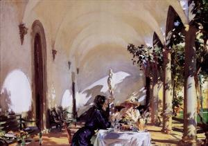 Breakfast In The Loggia by John Singer Sargent