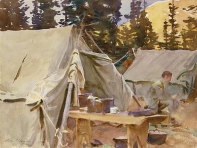 Camp at Lake O'Hara, 1916 by John Singer Sargent