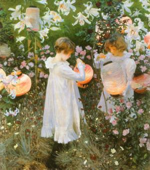 Chinese Lanterns, Girls, 1885 by John Singer Sargent
