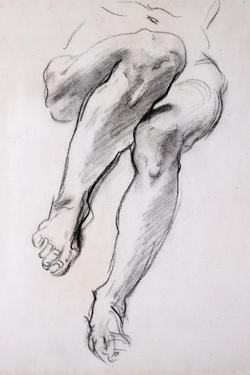 Feet and Legs of Seated Nude by John Singer Sargent