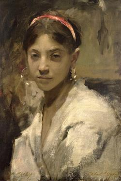 Head of a Capri Girl, 1878 by John Singer Sargent
