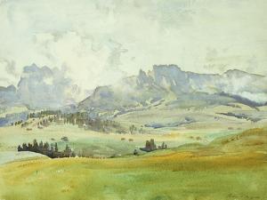 In the Dolomites, 1914 by John Singer Sargent
