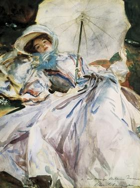 Lady with Parasol by John Singer Sargent
