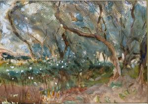Landscape, Corfu, 1909 by John Singer Sargent