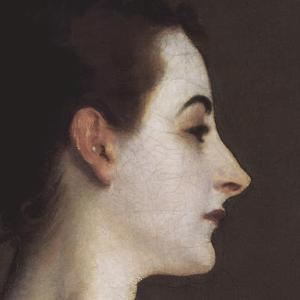Madame X (head detail) by John Singer Sargent